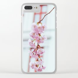 Pastel Sakura Clear iPhone Case
