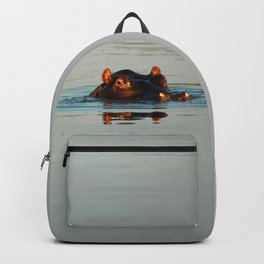 Cute Hippo Bathing Backpack