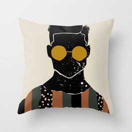Black Hair No. 7 Throw Pillow