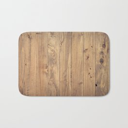 Wooden Background Bath Mat