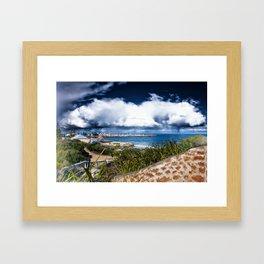 A Contrasting Opinion. Framed Art Print