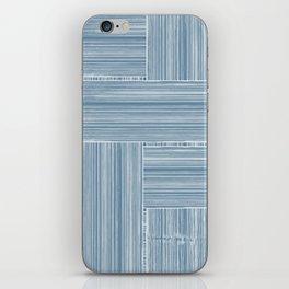 Steel Blue Wicker Surface Texture iPhone Skin