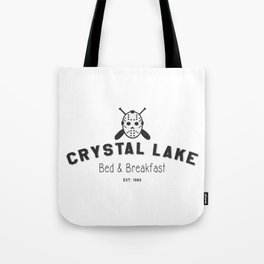 Crystal Lake Bed and Breakfast, Former Camp Crystal, Est.1980, Design for Wall Art, Posters, Tshirts, Men, Women, Kids Tote Bag