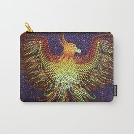 Phoenix dotart pointillism dotillism Carry-All Pouch