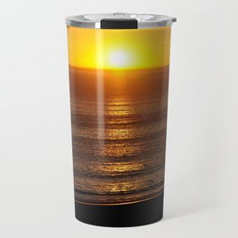 Sunset in Santa Monica with Location Travel Mug