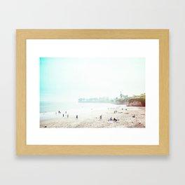 Sunday Morning Surf Framed Art Print