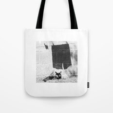 The cat and the pants Tote Bag