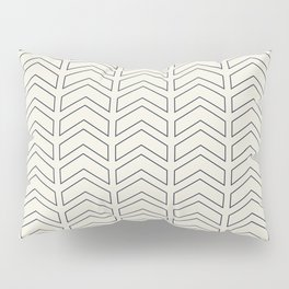 Simple Linear Geometric Shapes in Cream Pillow Sham