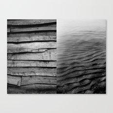 diptych mare e monti Canvas Print