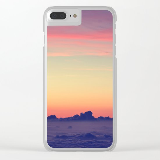 nature's pastels Clear iPhone Case