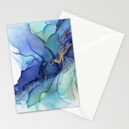 Electric Waves Violet Turquoise - Part 3 Stationery Cards