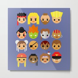 Street Fighter 2 Turbo Mini Metal Print