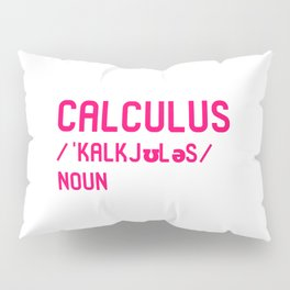 Calculus Teacher Word Definition Fun Dictionary Mathematician Pillow Sham