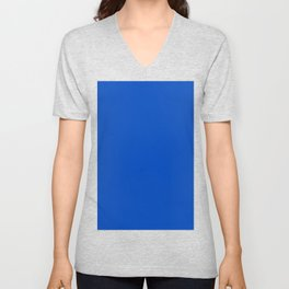 Chroma Key Blue - Correct Hex color for video effects  Unisex V-Neck