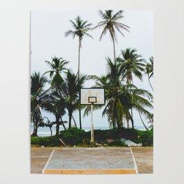 Basketball on Isla Bastimento, Bocas del Toro, Panama Poster
