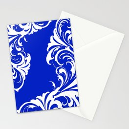 Damask Blue and White Stationery Cards