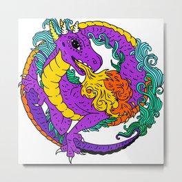Ouroboros (Dragon) Metal Print