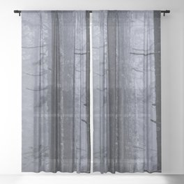Mountain Forest Foggy Adventure Sheer Curtain
