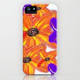 ORANGE & PURPLE FLORAL iPhone Case