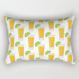 Tequila Shot Pattern Rectangular Pillow