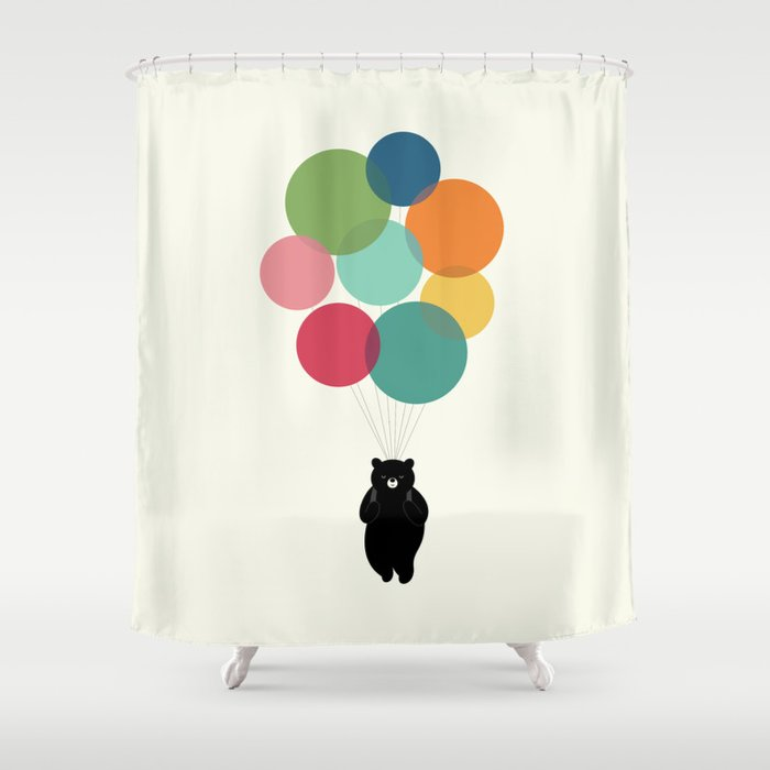 Happy Landing Shower Curtain