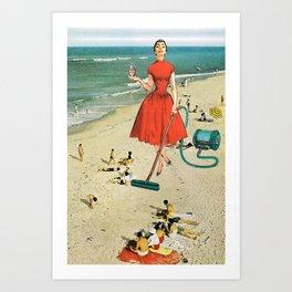 Floor Cleaner Art Print
