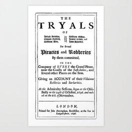 Historical Pirate Trials Art Print