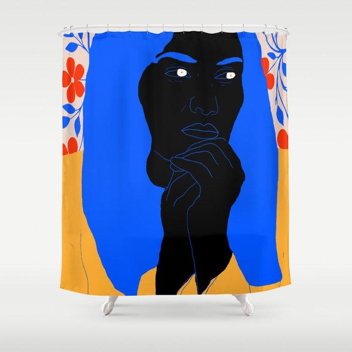 unhappy Shower Curtain