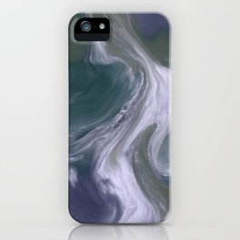 Green Purple White Marble iPhone Case