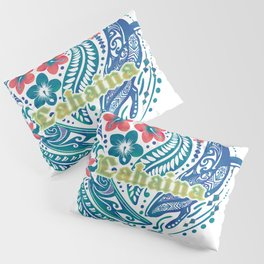 Lahaina Watercolor Whale Pillow Sham