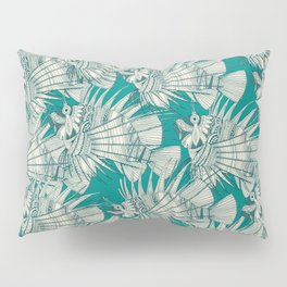 fish mirage teal Pillow Sham