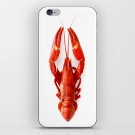 Red Like A Crab - Red Crab White Background #decor #society6 #buyart iPhone Skin