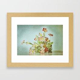 Anemone arrangement Framed Art Print