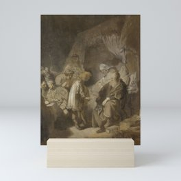 Rembrandt - Joseph Telling his Dreams to his Parents and Brothers Mini Art Print