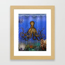 Octopus' Lair - colorful Framed Art Print