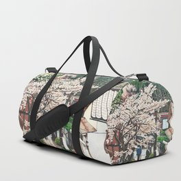 Passing by Cherry Blossoms Duffle Bag