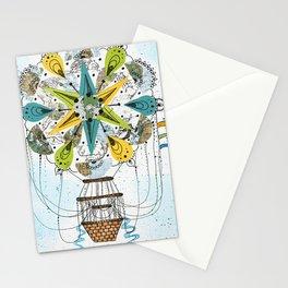 Hot Air Balloon Mandala Stationery Cards