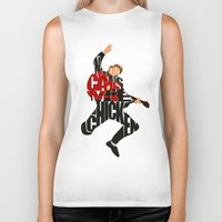 mcfly Biker Tanks featuring Marty Mcfly by Ayse Deniz