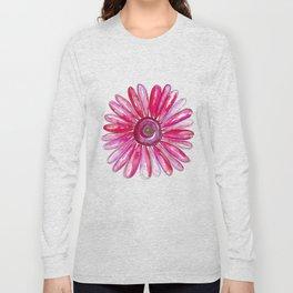 Pink Gerber Daisy Long Sleeve T-shirt
