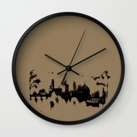 florence Wall Clocks featuring Florence by Irene Fratto Due
