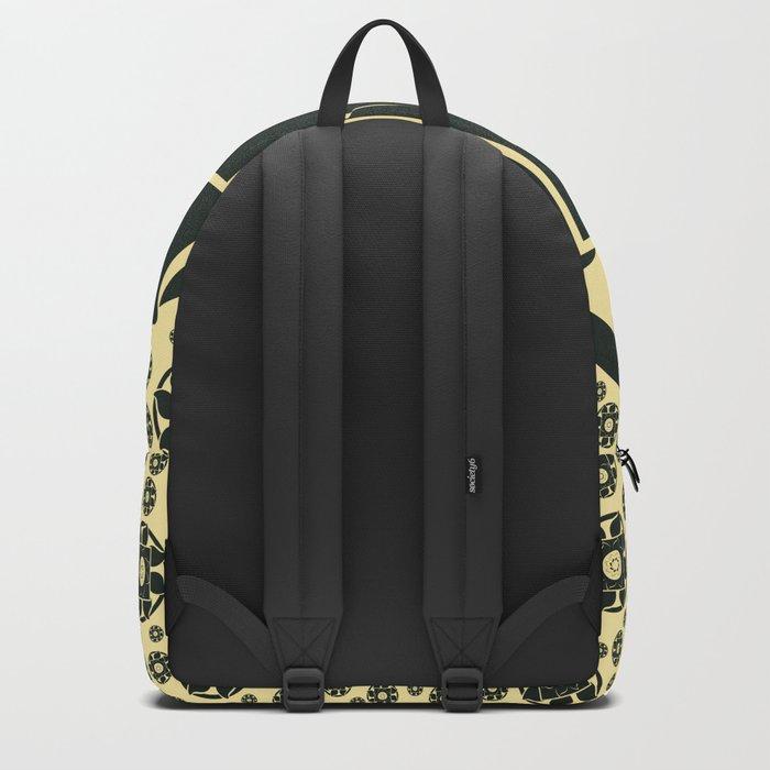 Black flower Backpack