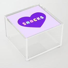 Love Snacks in Lilac Acrylic Box