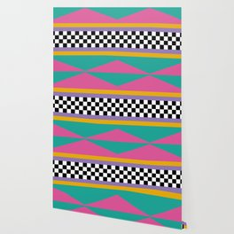 Checkered pattern grid / Vintage 80s / Retro 90s Wallpaper