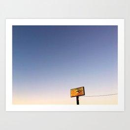 Ferrarese's Deli Sign – Oakdale, California, USA Art Print