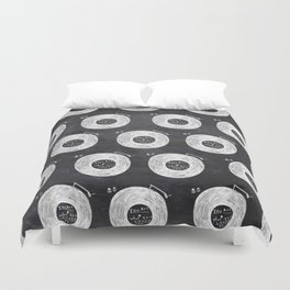 you are what you listen to, BLACK Duvet Cover