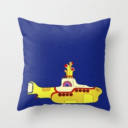 We all live in a yellow submarine Throw Pillow