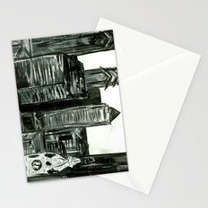 Black and White Philly Skyline Stationery Cards