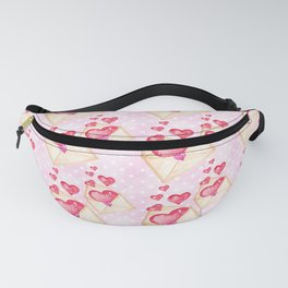 Red Hearts Pattern Fanny Pack