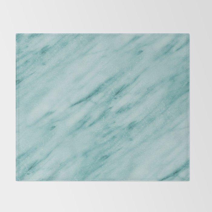 Audace Turchese green marble Throw Blanket