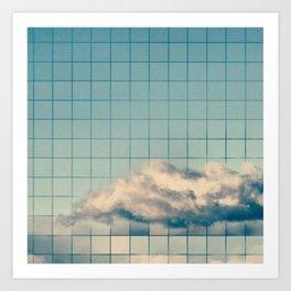 Grid Cloud Art Print